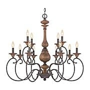 Auburn 12-Light Chandelier (item #RS-03QZ-ABN5012RK)