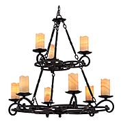 Armelle Two Tier 9-Light Chandelier (item #RS-03QZ-AME5009IB)