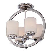 Celestial Semi-Flush Mount Ceiling Light (item #RS-03QZ-CLT1714BN)