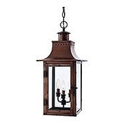 Chalmers Large Hanging Lantern In Aged Copper (item #RS-03QZ-CM1912AC)