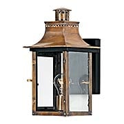 Chalmers Small Wall Lantern In Aged Copper (item #RS-03QZ-CM8408AC)