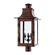 Chalmers Large Post Lantern In Aged Copper (item #RS-03QZ-CM9012AC)