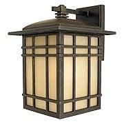 Hillcrest Medium Wall Lantern In Imperial Bronze (item #RS-03QZ-HC8409X)
