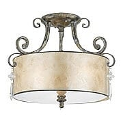 Kendra Large Semi Flush Mount In Mottled Silver (item #RS-03QZ-KD1716MM)