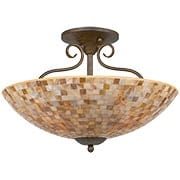 Monterey Mosaic Semi-Flush Mount Ceiling Light (item #RS-03QZ-MY1718ML)