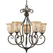 Monterey Mosaic 5-Light Chandelier (item #RS-03QZ-MY5005ML)