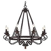 Noble 8-Light Chandelier (item #RS-03QZ-NBE5008RK)