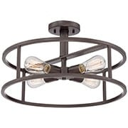 New Harbor Semi Flush Mount Ceiling Light (item #RS-03QZ-NHR1718X)