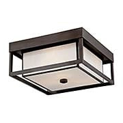 Powell Exterior Flush Mount Ceiling Light (item #RS-03QZ-PWL1613WT)