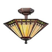 Arden Semi Flush Mount With Russet Finish (item #RS-03QZ-TFAN1714RS)