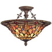Jewel Dragonfly Flush-Mount Ceiling Light (item #RS-03QZ-TFJD1718ML)
