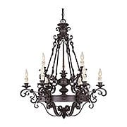 Bourges 9 Light Chandelier in Forged Black (item #RS-03SHL-1-4315-9-17)