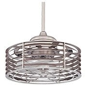 Seaside Caged Fan In Satin Nickel (item #RS-03SHL-14-325-FD-SN)