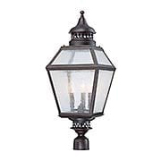 Chiminea Steel Post Lantern (item #RS-03SHL-5-777-13)