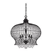 Abagail Birdcage 5-Light Pendant in Forged Black (item #RS-03SHL-7-6101-5-17)