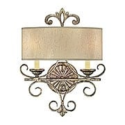 Savonia 2 Light Sconce in Oxidized Silver (item #RS-03SHL-9-511-2-128)
