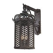 Los Olivos Large Exterior Sconce in Old Iron (item #RS-03TL-B2374X)