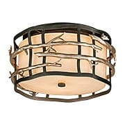 "Adirondack 13"" Flush Mount Ceiling Fixture in Silver Leaf (item #RS-03TL-C2880X)"