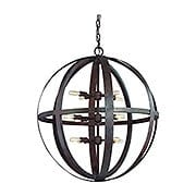 Flatiron Collection 12 Light Pendant in Weathered Iron (item #RS-03TL-F2518X)