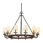 Lyon Collection 12 Light Chandelier in Burnt Sienna (item #RS-03TL-F2716X)