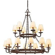 Lyon Collection 18 Light Chandelier in Burnt Sienna (item #RS-03TL-F2717X)