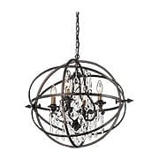 Byron Collection 4 Light Chandelier in Vintage Bronze (item #RS-03TL-F2995X)