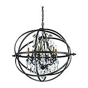 Byron Collection 6 Light Chandelier in Vintage Bronze (item #RS-03TL-F2997X)