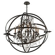Byron Collection 8 Light Chandelier in Vintage Bronze (item #RS-03TL-F2998X)