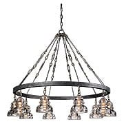 Menlo Park 10-Light Chandelier in Old Silver (item #RS-03TL-F3137X)
