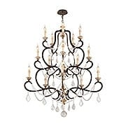 Bordeaux Collection 15 Light Chandelier in Parisian Bronze (item #RS-03TL-F3517X)