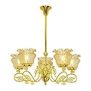 """Belmont 5 Light Gas Chandelier With 4"""" Fitters (item #RS-03VL-C25G5X)"""