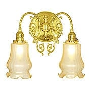 """Belmont 2 Light Sconce With 2 1/4"""" Fitters (item #RS-03VL-W29E2X)"""
