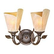 Capri 2-Light Bath Sconce (item #RS-03VX-CP-VLU002BW)