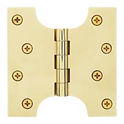 "4"" x 4"" Premium Brass Parliament Door Hinge (item #RS-04DH-DSPA4040X)"