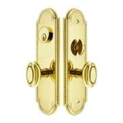 Hamilton Mortise Lock Entry Set with Oval Beaded Knobs (item #RS-05EM-3504-BEX)