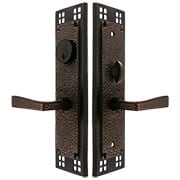 Craftsman Mortise Lock Entryset with Hammered Levers (item #RS-05EM-3508-HMX)