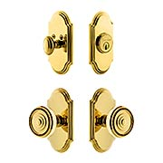 Grandeur Arc Entry Door Set with Soleil Knobs (item #RS-05NW-CP-ARCSOLX)