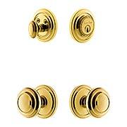 Grandeur Circulaire Entry Door Set with Circulaire  Knobs (item #RS-05NW-CP-CIRCIRX)