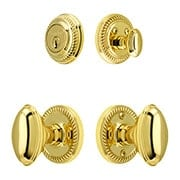 "Grandeur ""Newport"" Entry Door Set With Oval Brass Knobs (item #RS-05NW-CP-NEWEDNX)"