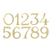 """4"""" Premium Brass House Numbers With Choice of Finish (item #RS-06DH-RN4X)"""