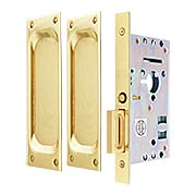Passage Pocket Door Mortise Set With Rectangular Pulls (item #RS-06EM-2104X)