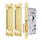 Passage Pocket Door Mortise Set With Rectangular Pulls (item #RS-06EM-2104X)