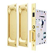 Dummy Pocket Door Mortise Set With Rectangular Pulls (item #RS-06EM-2106X)