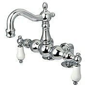 Chesapeake Deck-Mount Clawfoot Tub Faucet with White Porcelain Levers (item #RS-07KB-CC1096T1X)