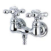 Cape Cod Wall-Mount Clawfoot Tub Filler with Top-Angle American Cross Handles (item #RS-07KB-CC38T1X)
