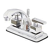Delray Centerset Bathroom Faucet with Arched Spout and Contemporary Levers (item #RS-07KB-KS464QLLX)