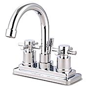 Delray Centerset Bathroom Faucet with Gooseneck Spout and Bauhaus Cross Handles (item #RS-07KB-KS866DXX)
