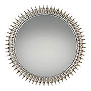 Talon Wall-Mount Mirror in Ivory with Gold Highlights (item #RS-07QZ-QR2055)