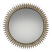 Talon Wall-Mount Mirror in Century Silver Leaf (item #RS-07QZ-QR2056)