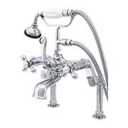 St. Andrews Tall Rim-Mount Clawfoot Tub Faucet with American Cross Handles (item #RS-07SC-P0626X)